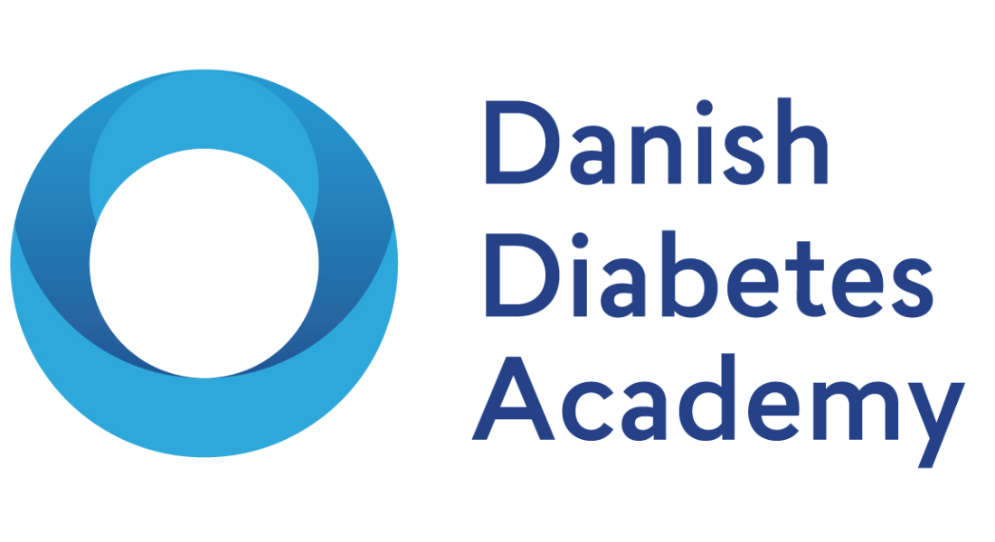 Logo of the Danish Diabetes Academy: A blue ring and the name in blue text