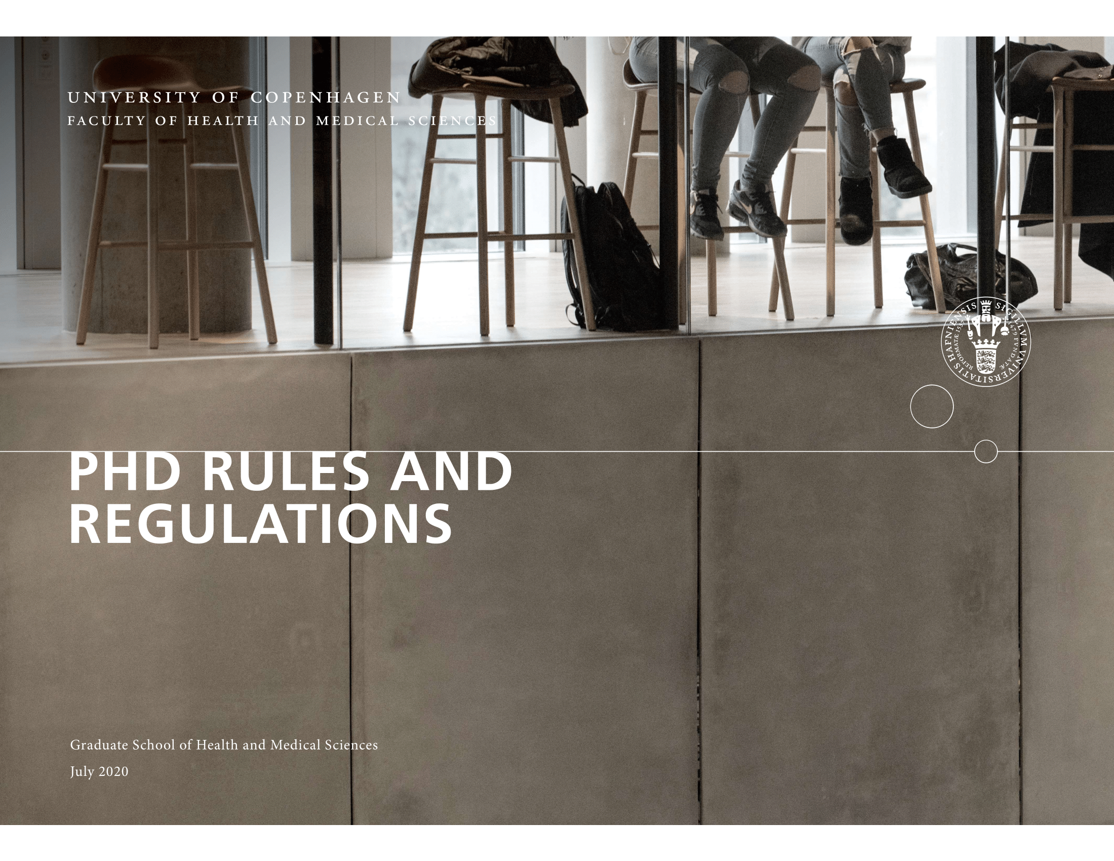 Link to PDF concerning PhD rules and guidelines at UCPH and SUND